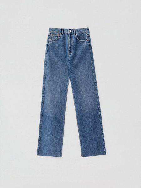Прямые джинсы синие Pull&bear