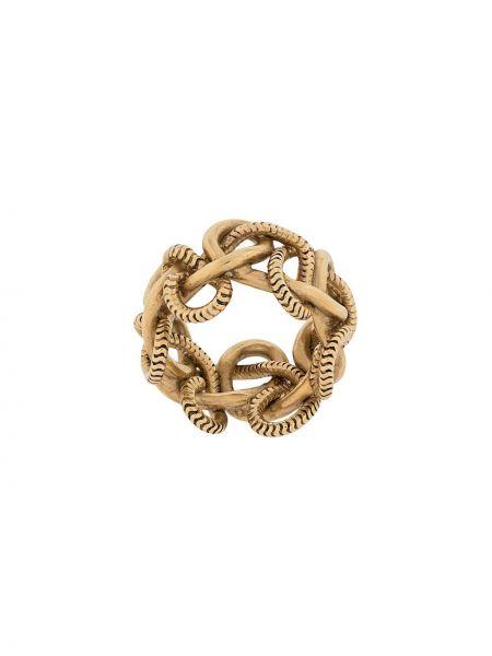 Złoty pierścionek Saint Laurent