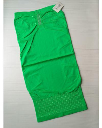 Зеленое платье со стразами из микрофибры Greenice