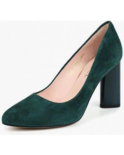 Туфли на каблуке осенние велюровые Keryful