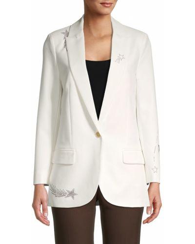 Бежевый однобортный удлиненный пиджак с подкладкой Zadig & Voltaire