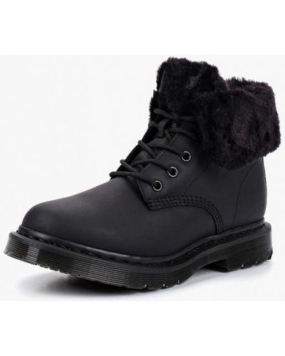 Кожаные ботинки осенние высокие Dr Martens