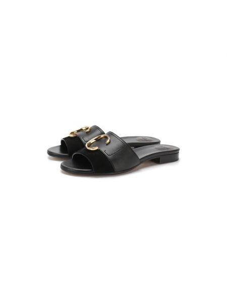 Шлепанцы на каблуке черные Chloé