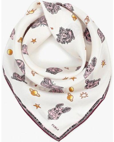 Белый платок итальянский Furla