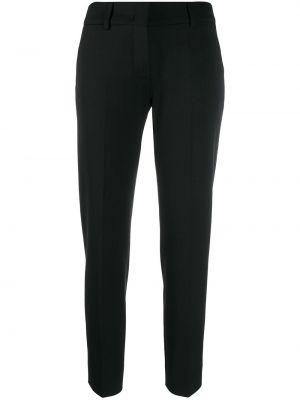 Черные укороченные брюки с карманами Piazza Sempione