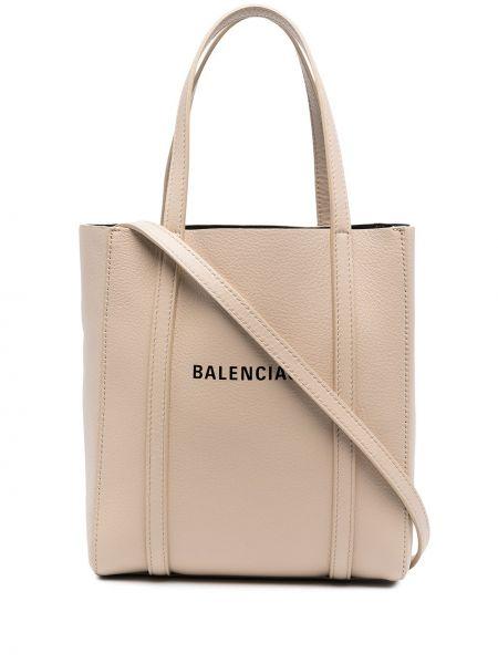 Повседневная кожаная сумка-тоут на молнии Balenciaga