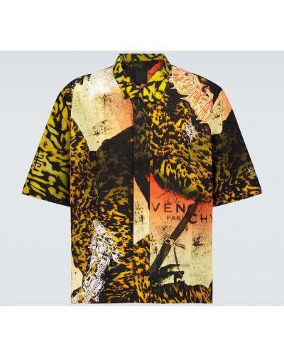 Koszula krótki rękaw bawełniana zapinane na guziki Givenchy