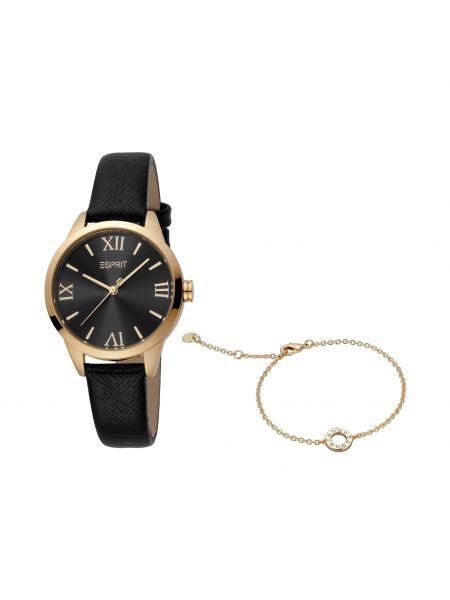 Złoty zegarek - czarny Esprit