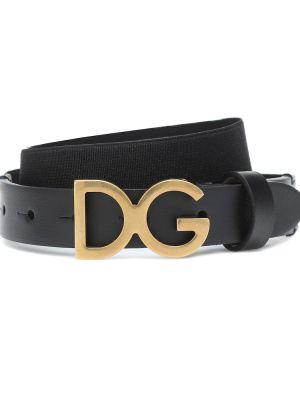 Кожаный ремень - черный Dolce & Gabbana Kids