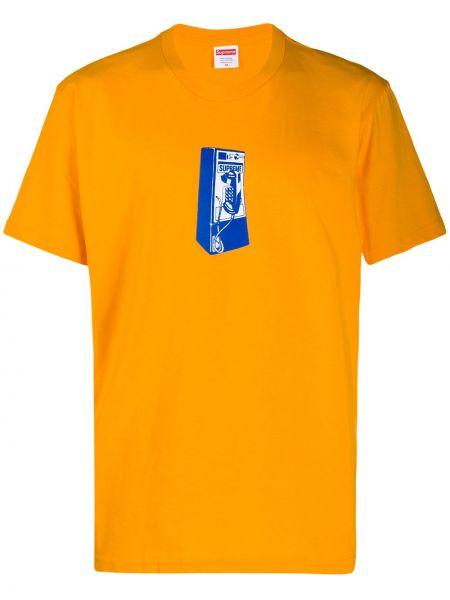 Bawełna bawełna pomarańczowy koszula Supreme