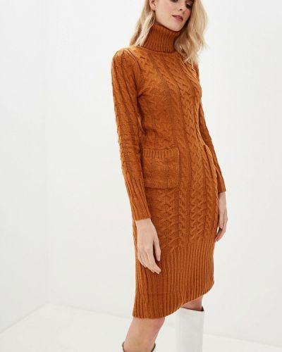 Платье - коричневое Liana
