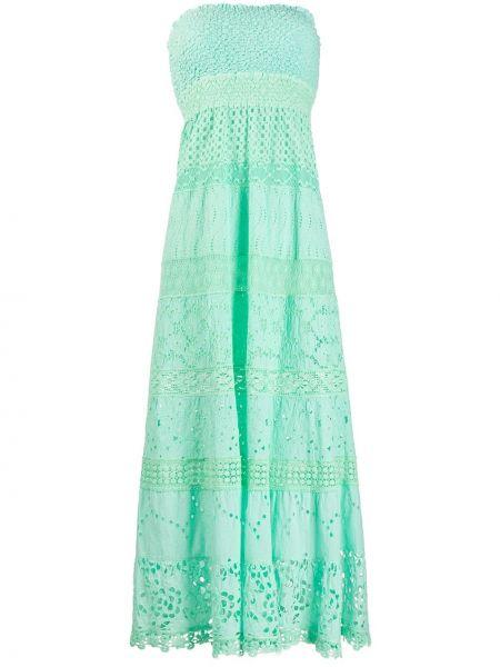 Зеленое открытое приталенное платье с открытой спиной Temptation Positano