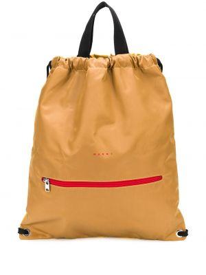 Желтый кожаный сумка на плечо на шнурках Marni