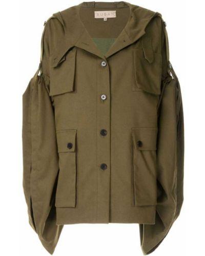 Куртка с капюшоном с карманами зеленая Ruban