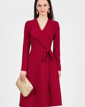 Платье бордовый с запахом Grey Cat