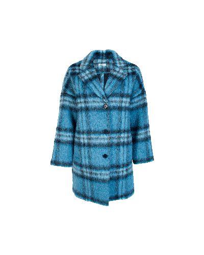 Голубое пальто осеннее P.a.r.o.s.h.