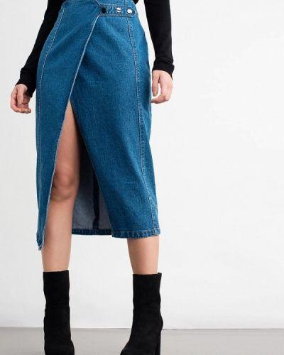 Джинсовая юбка синяя Lost Ink.