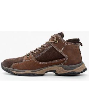 Высокие кроссовки коричневый из нубука Nexpero