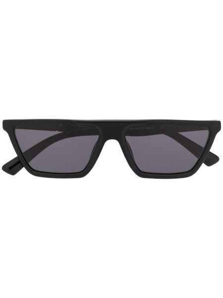 Муслиновые прямые черные солнцезащитные очки Diesel