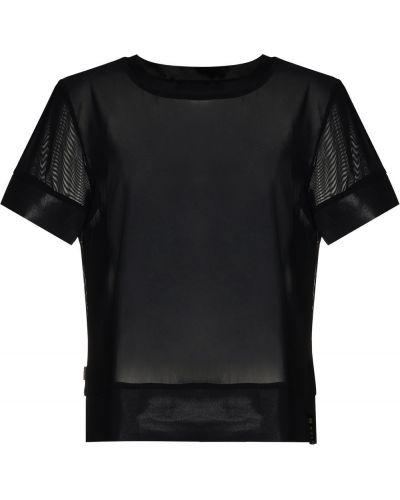 Прямая черная спортивная футболка с вырезом Goldbergh