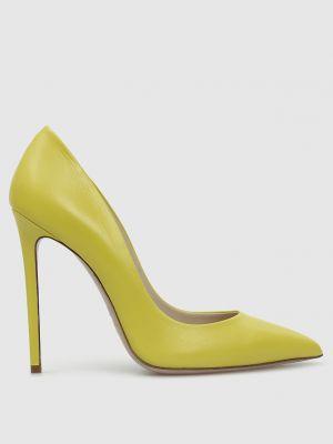 Кожаные лодочки - желтые Babe Pay Pls