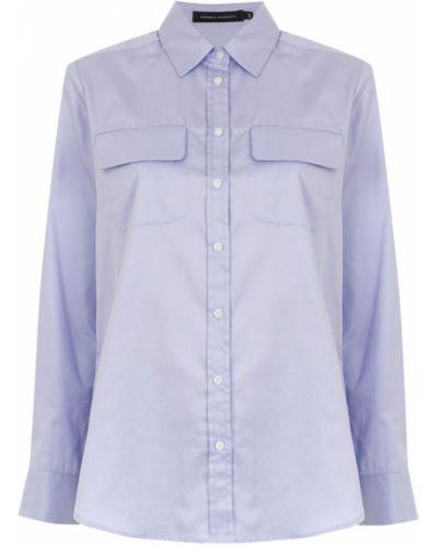 Рубашка с длинным рукавом фиолетовый с карманами Andrea Marques