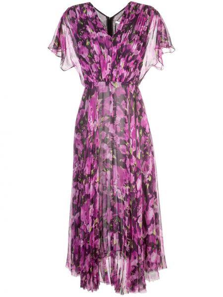 Хлопковое розовое платье мини с короткими рукавами Jason Wu Collection