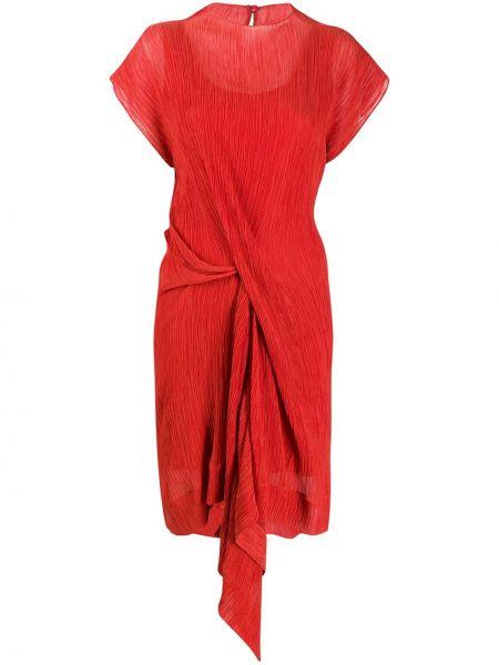 Платье мини на пуговицах с драпировкой Nina Ricci