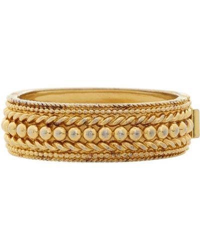Золотой браслет позолоченный плетеный Yves Saint Laurent Vintage