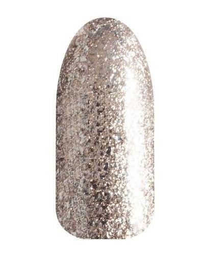 Лак для ногтей светлый с глиттером Runail