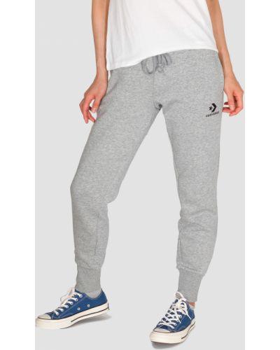 Повседневные флисовые серые спортивные брюки Converse