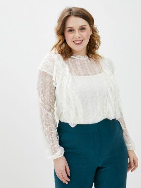 Блузка кружевная белая Violeta By Mango