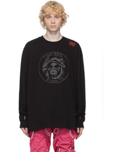 Черная рубашка с воротником с вышивкой с манжетами 99% Is