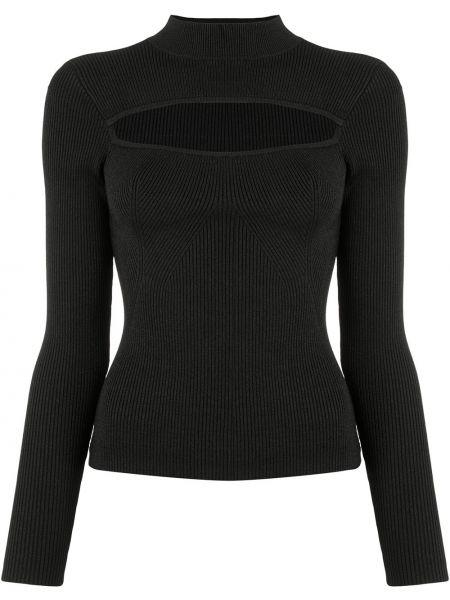 С рукавами черный свитер с воротником из вискозы Manning Cartell
