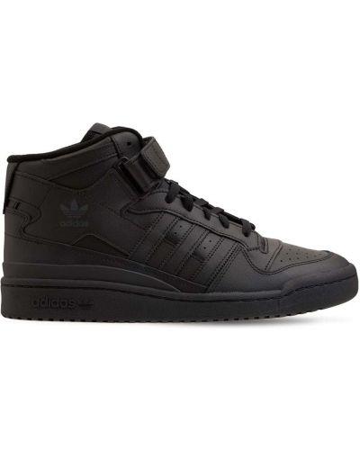 Кожаные кроссовки - черные Adidas Originals