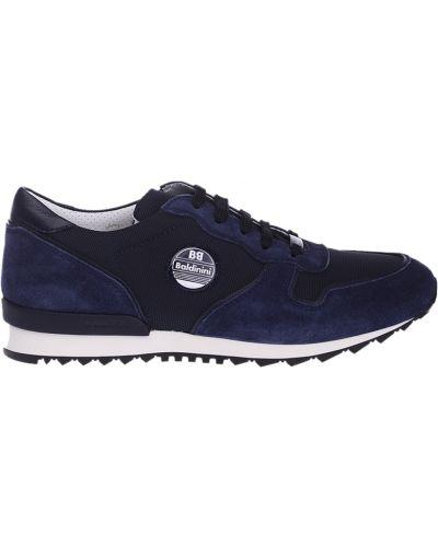 Синие кроссовки замшевые Baldinini