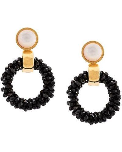 Белые серьги круглые Lizzie Fortunato Jewels