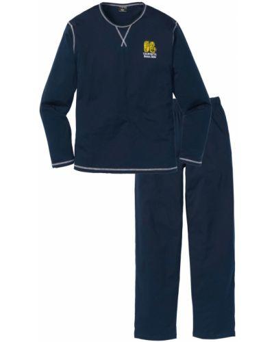 Пижама со штанами - синяя Bonprix