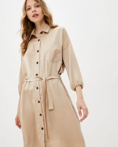 Платье рубашка золотое Pinkkarrot