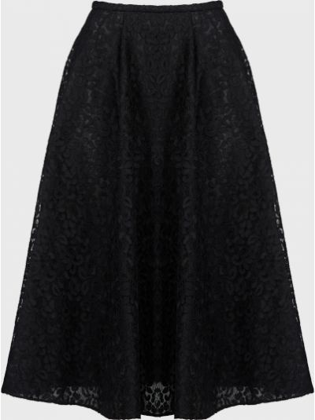Черная юбка на молнии Rochas