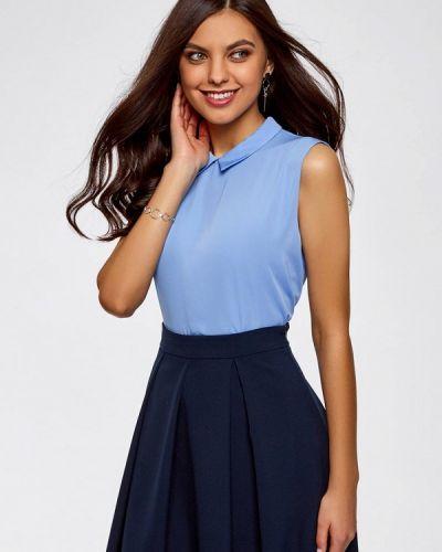 Голубая блузка Oodji