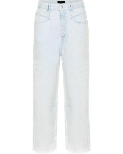 Klasyczny bawełna niebieski bawełna jeansy na wysokości Isabel Marant