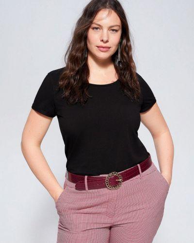 Черная футболка Violeta By Mango