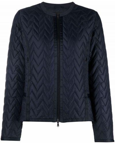 Синяя длинная куртка Emporio Armani