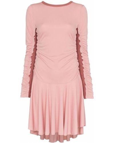Платье мини розовое с вырезом See By Chloé