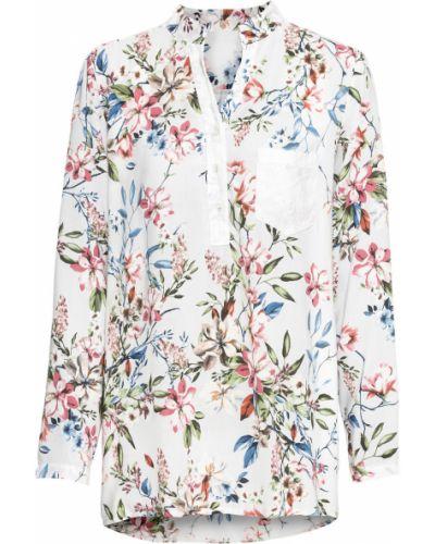 Блузка с длинным рукавом с пайетками бежевый Bonprix