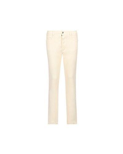 Хлопковые прямые белые джинсы Ermanno Scervino