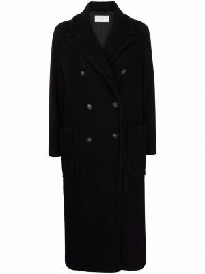 Черное пальто из вискозы Antonelli