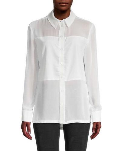 Черная рубашка с длинными рукавами с воротником David Lerner