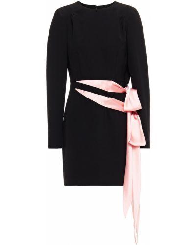 Черное платье мини стрейч из крепа Ronny Kobo